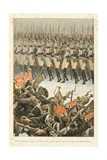 Battle of Eylau: Grenadiers and the Old Guard, 'Au Drapeau' Giclee Print by Julien Le Blant