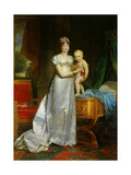 Portrait of Empress Marie Louise and the King of Rome. 1813 Giclee Print by Francois Gerard