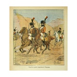 Napoleonic Wars, Emperor Napoleon Hurriedly Leaves Spain Giclee Print by Louis Bombled
