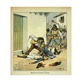 Napoleonic Wars, Massacre of French Soldiers at Verona Giclee Print by Louis Bombled