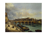 Ile De La Cite and the Pont Neuf Seen from the Quai Du Louvre. 1832 Giclee Print by Giuseppe Canella