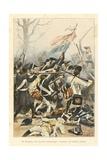 Flag Surrounded by Enemy, Battle of Marengo, 'Au Drapeau' Giclee Print by Julien Le Blant