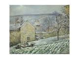 Snow Effect at the Hermitage, 1874 Reproduction procédé giclée par Camille Pissarro