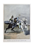 Coignet Kills a Prussian Officer with a Sabre 'Captain Coignet's Books' Giclee Print by Julien Le Blant
