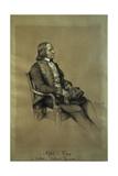 Alfred De Vigny, French Writer, Ca. 1850 Giclee Print by Francois Joseph Heim