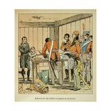 Brit. Gen. Hudson Lowe Searching the Las Cases Papers on St. Helena Giclee Print by Louis Bombled