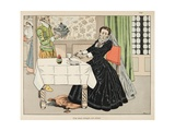 A Mother Eats Her Child During Henri IV's Siege of Paris Giclee Print by Jacques de Breville