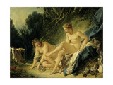 Diana Leaving Her Bath. 1742 Giclee Print by Francois Boucher