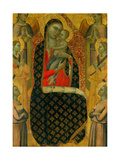 Madonna in Majesty Enthroned with Angels Giclee Print by Allegretto Nuzi