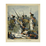 Napoleonic Wars, Grognard During the Battle of Wagram Giclee Print by Louis Bombled