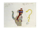 Drawing of a Turkish Teapot. Ca. 1800-50. by French Artist Alexandre Evariste Fragonard Giclee Print by Alexandre Evariste Fragonard