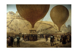 Departure of Leon Michel Gambetta in Balloon 'L'Armand-Barbes', 1870 Giclee Print by Jules Didier