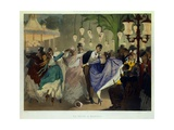 Waltz at the Bal Mabille, in 1867 Giclee Print by Philippe Jacques Linder