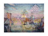 Entrance to Marseilles Harbor, 1911 Giclee Print by Paul Signac