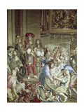 Louis XIV Visiting the Gobelins Manufactory, Oct. 15, 1667 Giclee Print