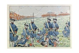 The Battle of Fontenoy, May 11, 1745 Reproduction procédé giclée par Jacques de Breville
