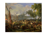 French Army Crossing the Rhine at Dusseldorf, Sept. 6, 1795 Giclee Print by Louis Francois Lejeune