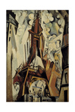 The Eiffel Tower, 1910 Giclée-tryk af Robert Delaunay