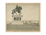 1894 Statue Is Erected in Memory of Henry Iv Giclee Print by Jacques de Breville