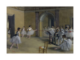 Dance Foyer at the Opera on the Rue Le Peletier, 1872 Giclee Print by Edgar Degas