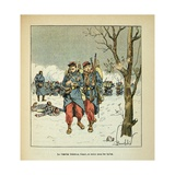 Franco-German War, Furir Wounded Delorme, Withdrew under Fire Giclee Print by Louis Bombled