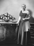 Mamie Eisenhower's Mother, Mrs. Elivera Doud, in the Gown She Will Wear to the 1957 Inaugural Ball Photo