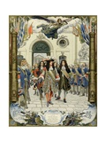 The Inauguration of the Royal Hotel of Invalides by Louis XIV Giclee Print by Maurice Leloir
