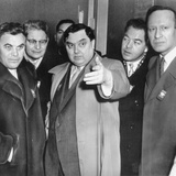 Soviet Russia's Georgy Malenkov Visiting the British Nuclear Plant at Harwell, England Photo