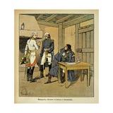 Italian Campaign. Bonaparte, Serurier and Klenau in Roverbello Giclee Print by Louis Bombled