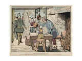 Henry IV Eats Boiled Chicken with Farmers Giclee Print by Jacques de Breville