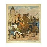 Napoleonic Wars, French Envoy of Lannes Abused by the People of Vienna Giclee Print by Louis Bombled
