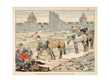 The Hungry Parisians Slaughter their Horses During Henri IV's Siege Giclee Print by Jacques de Breville
