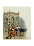 Cardinal Richelieu Playing with His Cats Giclee Print by Maurice Leloir
