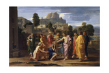 The Blind of Jericho, or Christ Healing the Blind, 1650 Giclee Print by Nicolas Poussin