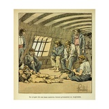 Napoleonic Wars, French Prisoners on the British Prison Ships Giclee Print by Louis Bombled