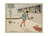 Education in the 16th Century: Tennis Giclee Print by Jacques de Breville