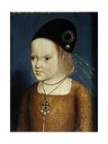 Margaret of Austria at Age 3, 1483. Child of Emperor Maximilian of Austria. Flemish School. Giclee Print