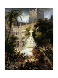Assault of San Engracia Monastery at Zaragoza, February 8Th, 1809 Giclee Print by Louis Francois Lejeune