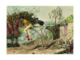 The Penny-Farthing Race, 1880S Giclee Print