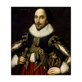 William Shakespeare at the Age 34, Ca.1830-60 Giclee Print by Louis Coblitz