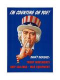 World War II 'Careless Talk' Propaganda Poster Art Giclee Print