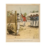 Madagascar War 1885-95, Execution of French Colonist Greve by Hovas, in 1895 Giclee Print by Louis Bombled