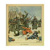Franco-German War, Death of Gen. Bossak-Hauke at La Casquette Giclee Print by Louis Bombled