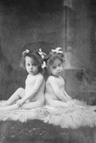 Daisy Hilton and Violet Hilton, Conjoined Twins, First Toured in Britain in 1911, at Age 3 Photo