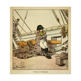 Emperor Napoleon I on Board the Northumberland Enroute to St. Helena 1815 Giclee Print by Louis Bombled
