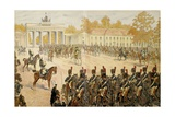 Napoleon I and His Army Entering in Berlin, Oct. 27, 1806 Reproduction procédé giclée par Jacques de Breville