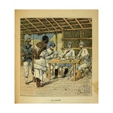 Madagascar War 1885-95, French Questioning of a Hova Prisoner Giclee Print by Louis Bombled