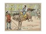 Education in the 16th Century: Riding Giclee Print by Jacques de Breville