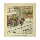 Franco-German War, Entrance of Prussians into the City of Le Mans, Jan. 1871 Giclee Print by Louis Bombled
