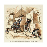 French Soldiers During the Battle of Pyramids, July 21St, 1798 Giclee Print by Louis Bombled